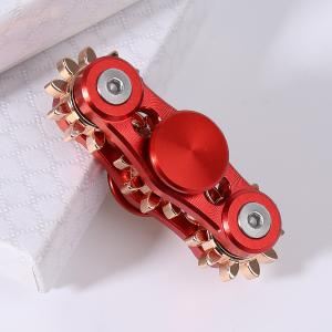 EDC Stress Relief Toy Finger Gyro with Gear - Red - 6.5*6.5cm