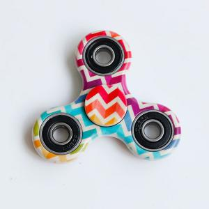 Anti-Stress Toy Colorful Zig-Zag Triangle Fidget Spinner