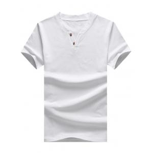 Short Sleeve T-Shirt with Notch Neck
