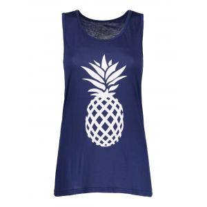 Pineapple Print Bowknot Design Racerback Tank Top