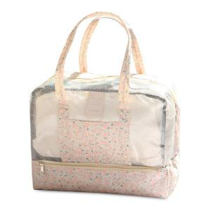 Multifunctional Print Mesh Panel Bag - Shallow Pink