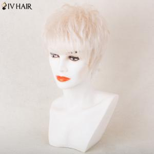 Siv Hair Shaggy Silky Short Straight Side Bang Pixie Perruque de cheveux humains -