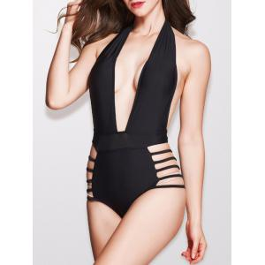 Cut Out Plunge High Waisted Swimsuit