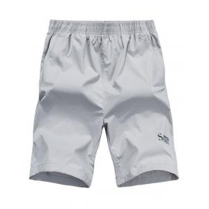 Zip Pocket Sports Shorts - Light Gray - 3xl