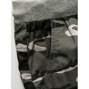 Graphic Print Drawstring Camouflage Shorts -