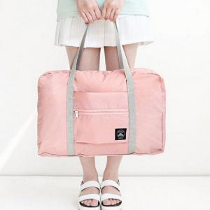 Foldable Waterproof Nylon Carryall Bag - Pink