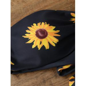 Sunflower Bandeau Padded Strapless Bathing Suit Bikini -