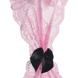 Lace Insert Bowknot Intimate Teddy -
