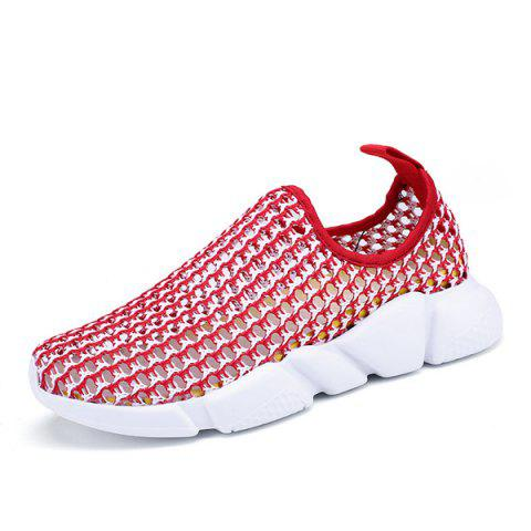 Store Color Block Breathable Athletic Shoes - 38 RED Mobile