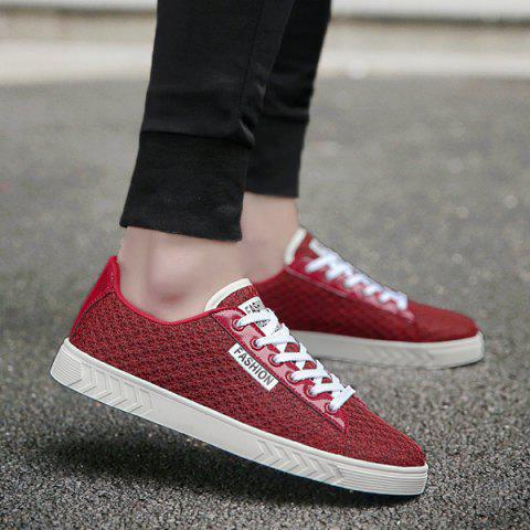 Online Mesh Letter Pattern Casual Shoes - 40 RED Mobile