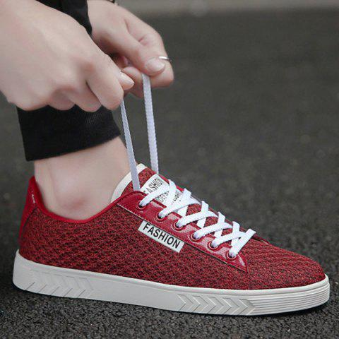 Affordable Mesh Letter Pattern Casual Shoes - 40 RED Mobile