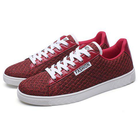 Buy Mesh Letter Pattern Casual Shoes - 40 RED Mobile