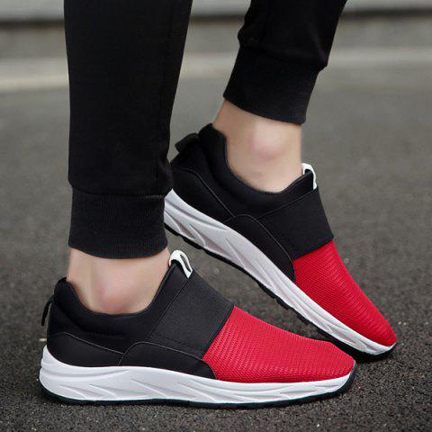 Fancy Elastic Mesh Casual Shoes - 40 RED Mobile