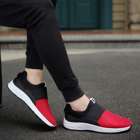 Outfits Elastic Mesh Casual Shoes - 40 RED Mobile
