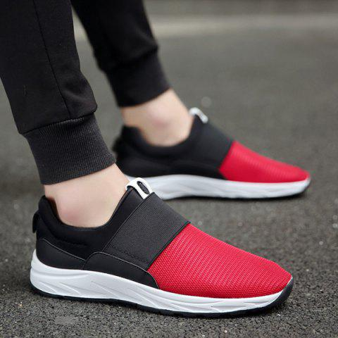 Best Elastic Mesh Casual Shoes - 40 RED Mobile