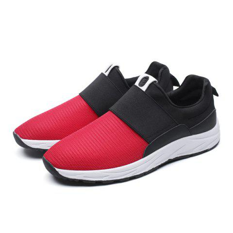 Sale Elastic Mesh Casual Shoes - 40 RED Mobile