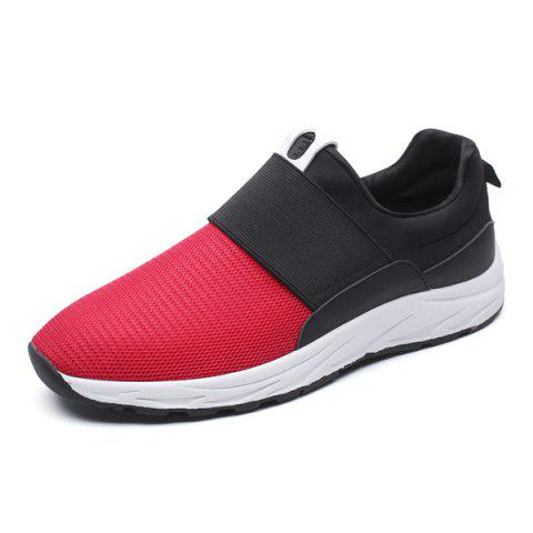Online Elastic Mesh Casual Shoes - 40 RED Mobile
