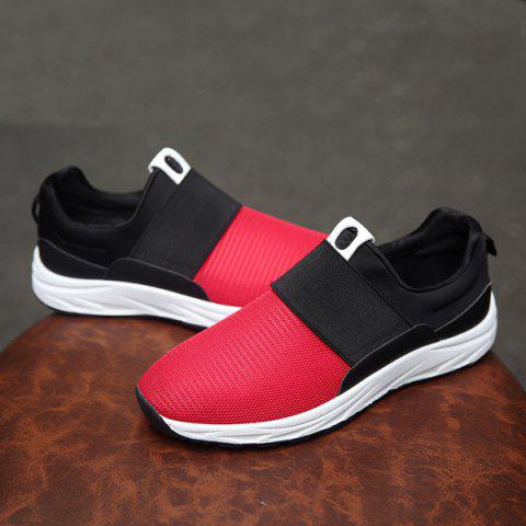 Shops Elastic Mesh Casual Shoes - 40 RED Mobile