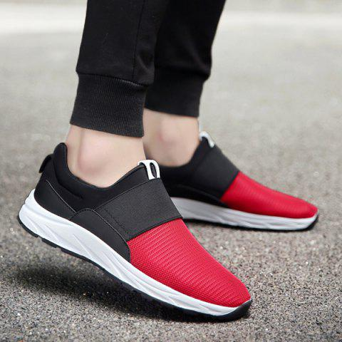 Discount Elastic Mesh Casual Shoes - 40 RED Mobile