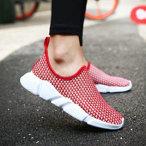 Shops Breathable Colour Block Casual Shoes - 40 RED Mobile