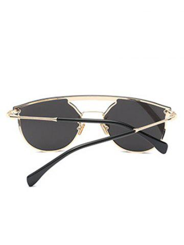 Sale Mirror Invisible Frame Hollow Out Crossbar Sunglasses - SILVER  Mobile