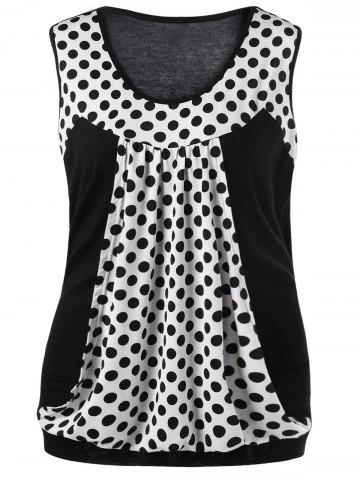 Polka Dot Plus Size T-shirt sans manches