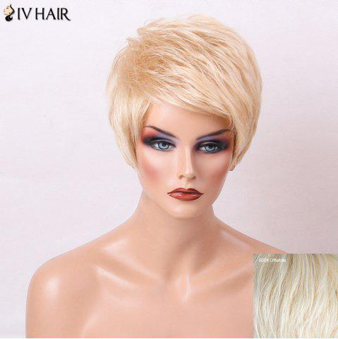 Shops Siv Hair Layered Short Side Bang Pixie Straight Human Hair Wig