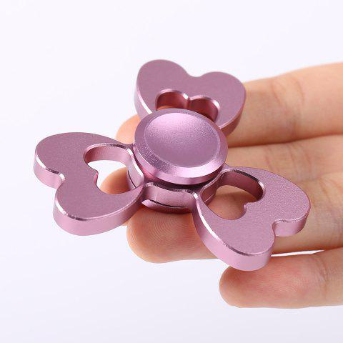 Clover Shaped Fidget EDC Toy Alloy Finger Gyro - Pink - 6*6cm