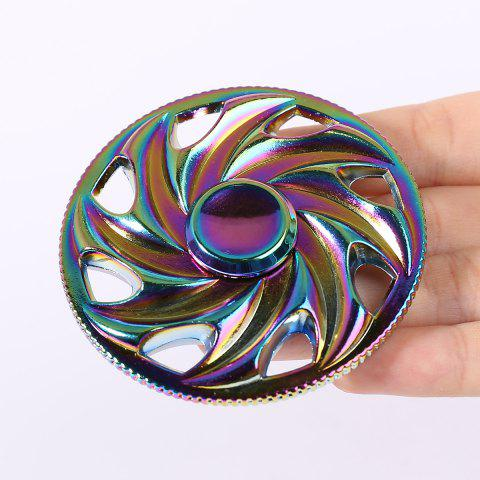 Colorful Wheel Shaped Fidget Metal Toy Finger Gyro - Colorful - 6.5*6.5cm