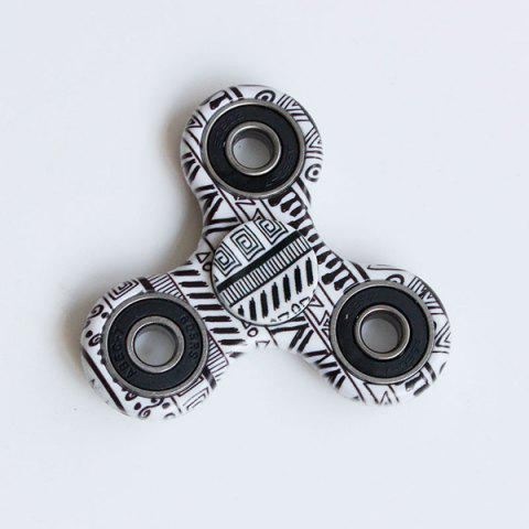 Sale Focus Toy Graphic Pattern Fidget Spinner BLACK