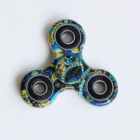Latest Focus Toy Bohemian Pattern Fidget Spinner BLUE