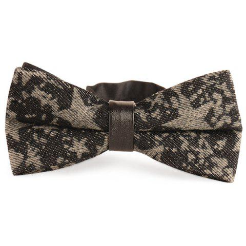 Unique Stars Printed Denim Layered Bow Tie