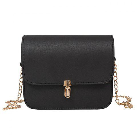 Outfits Push Lock Chain Cross Body Bag