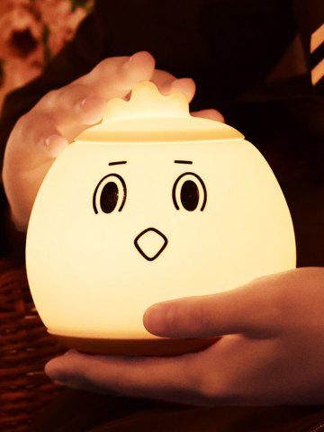 Discount Cartoon LED Color Changing Silica Gel Night Light - 12.5*12.5*12.5 WHITE Mobile