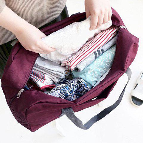Shop Foldable Waterproof Nylon Carryall Bag - WINE RED  Mobile