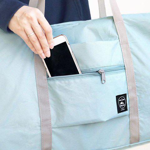 Unique Foldable Waterproof Nylon Carryall Bag - LIGHT BLUE  Mobile