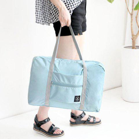 Store Foldable Waterproof Nylon Carryall Bag - LIGHT BLUE  Mobile