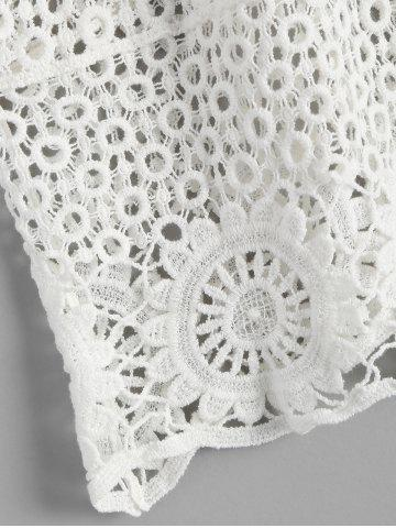 Shops Crochet Lace See Through Openwork Tank Top - ONE SIZE WHITE Mobile