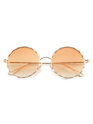 Shops Round Ombre Wavy Metal Frame Leg Sunglasses - LIGHT YELLOW  Mobile