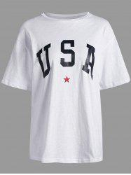 USA Graphic Star Print Tee