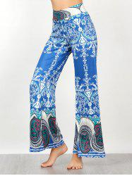 Vintage Paisley Print High Waisted Palazzo Pants