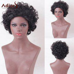 Adiors Short Shaggy Layered Curly Heat Resistant Synthetic Wig