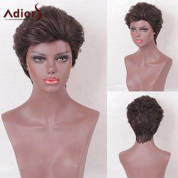 Adiors Layered Short Slightly Curly Shaggy Heat Resistant Synthetic Wig