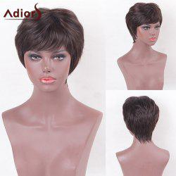 Adiors Side Bang Layered Silky Short Straight Synthetic Wig
