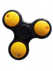 LED Light Rotating Tirangle Fidget Spinner - YELLOW AND BLACK