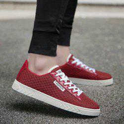Mesh Letter Pattern Casual Shoes
