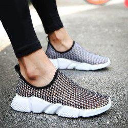 Breathable Colour Block Casual Shoes - BLACK