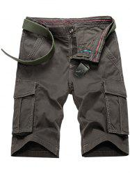 Flap Pocket Bermuda Cargo Shorts - TAUPE
