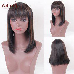 Adiors Full Bang Silky Medium Straight Highlight Synthetic Wig