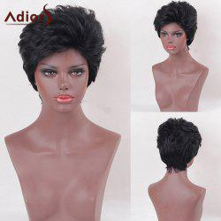 Adiors Shaggy Short Side Bang Natural Straight Synthetic Wig